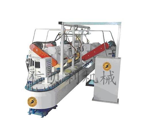 Elliptical reciprocating conveyor automatic polishing machine ST-804