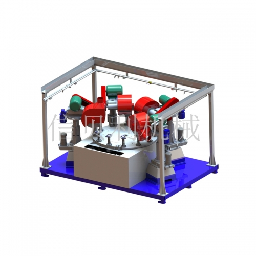 Flat automatic polishing disc machine ST-616