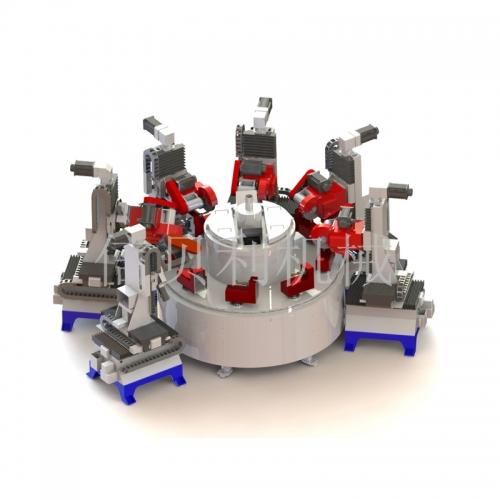 Disc type multi-axis servo control matte / polishing machine ST-6058